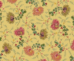 Bally Hall, Delicate Floral, Musterd 8525-GY