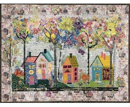 Birch street collage by Laura Heine
