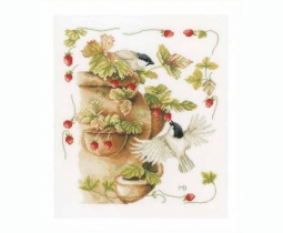 Strawberries & Birds door Marjolein Bastin PN-0168599