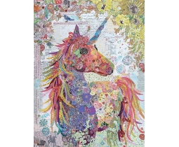 Nola a unicorn collage by Laura Heine