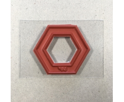 Quiltstempel Hexagon 5/8