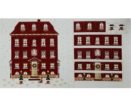 Kerstpanel 4595 479 adventhuis rood