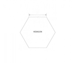 Hexagon 1 1/4 inch